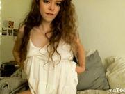 Rose Castella - Teasing and Fingering in White Dress