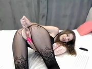 MarySweetGirl Black Lingerie (dance & dildo fuck)