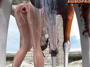 Lara with horse 2 - episode 4 - anime - animopron.com