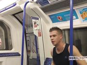Two British lads on the tube