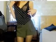 O_sensual Serenkaya takes her bra off