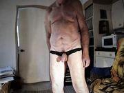 Nude, Thong, butt dance