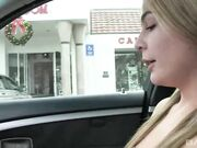 Show pussy in the car - Blair Williams