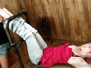 #386 FW Gia tied feet & soles worshiped by Sandra LFW