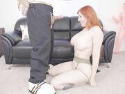 Slutty redhead Lauren Phillips enjoys warm pussy creampie after hot fuck
