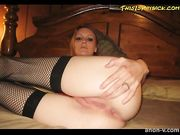 Hot blonde sucks, gets anal fucked and facialized