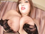 Tall asian amazon standing sex with short guy