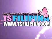 Horny Amateur Busty TS Filipina Gets Anal 2