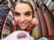 PavlovsWhore AKA Cloe Palmer - Risky Facial In the Bookstore
