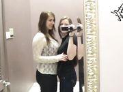 allysaamour has fun in dressing room